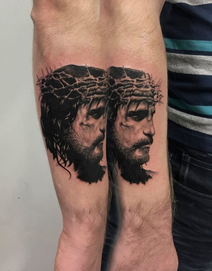 Jesus-black-grey-tattoo