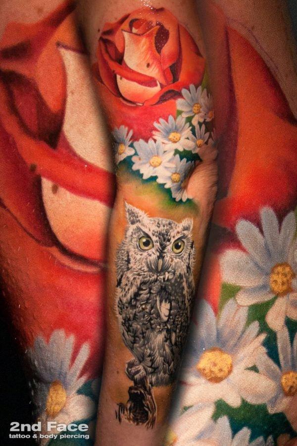 bufnita-trandafir-flori-tattoo