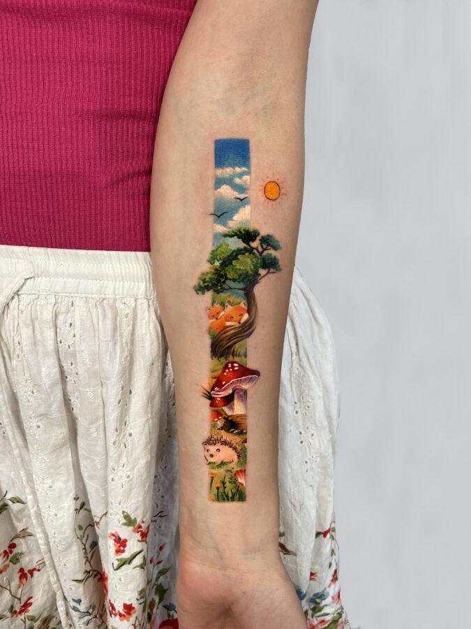 tatuaj color