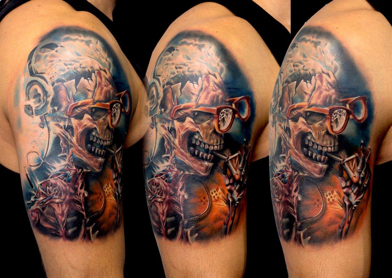 craniu-color-schelet