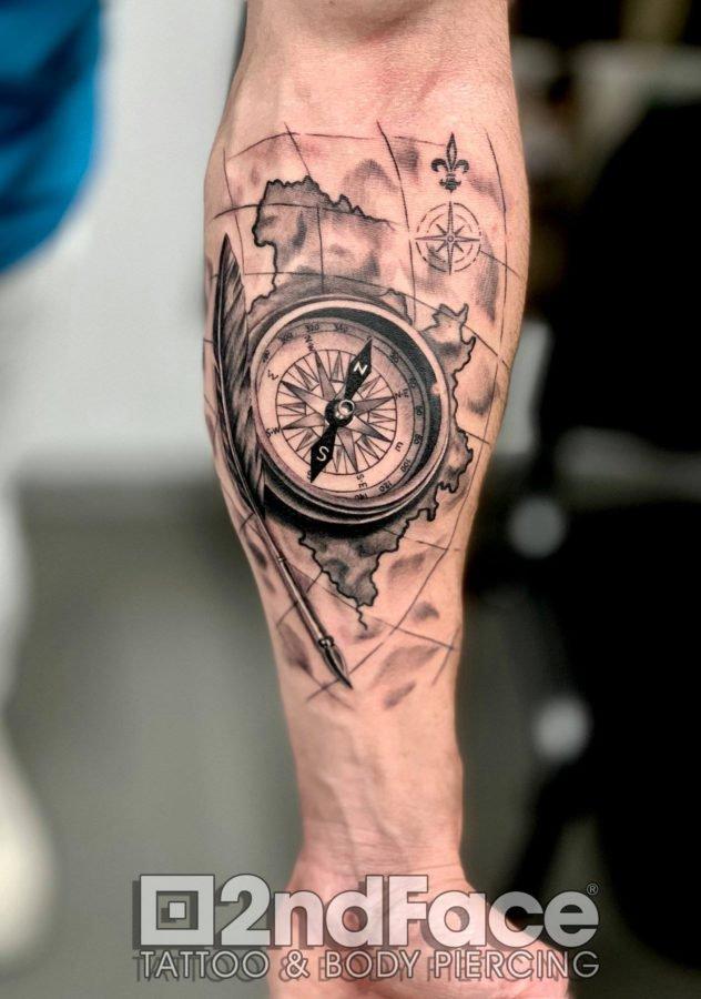 harta-compas-calatorie-tatuaj