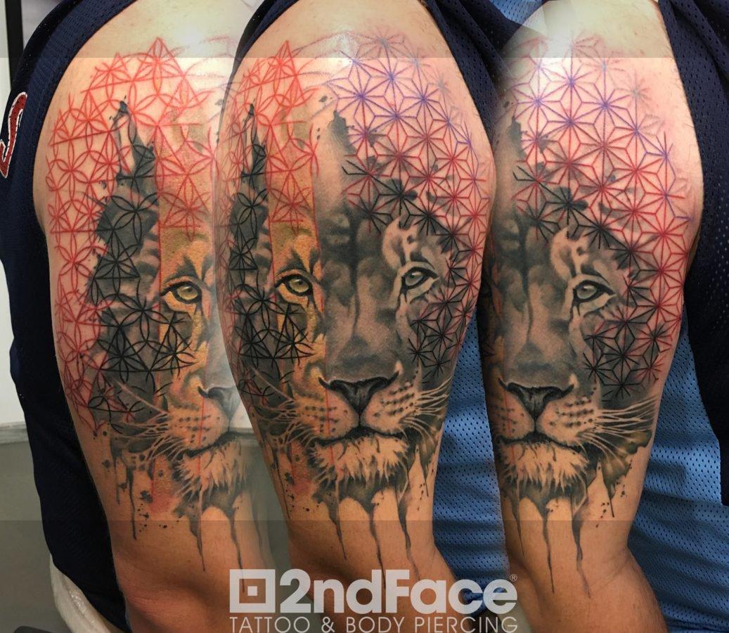 lion-geometric-design