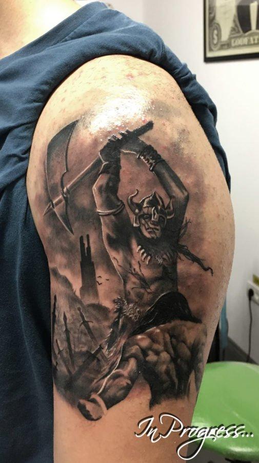 luptatori-arme-tatuaj