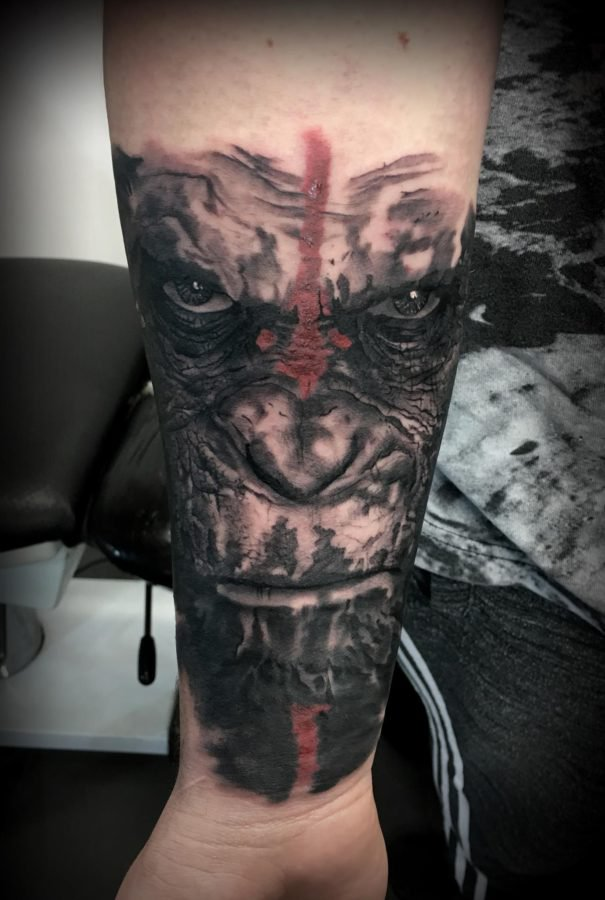 maimuta-realistic-tatuaj